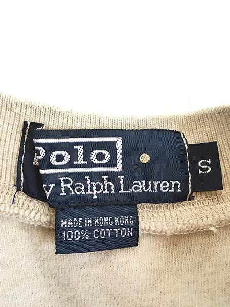 [5] 古着  POLO Ralph Lauren ワンポイント 刺しゅう ヘンリーネック サーマル シャツ トップス S 古着
