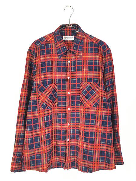 [1] 古着 80s Highlander Flannel by BUD BERMA チェック フランネル シャツ ネルシャツ L 古着
