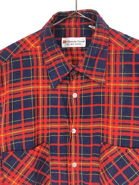 [2] 古着 80s Highlander Flannel by BUD BERMA チェック フランネル シャツ ネルシャツ L 古着