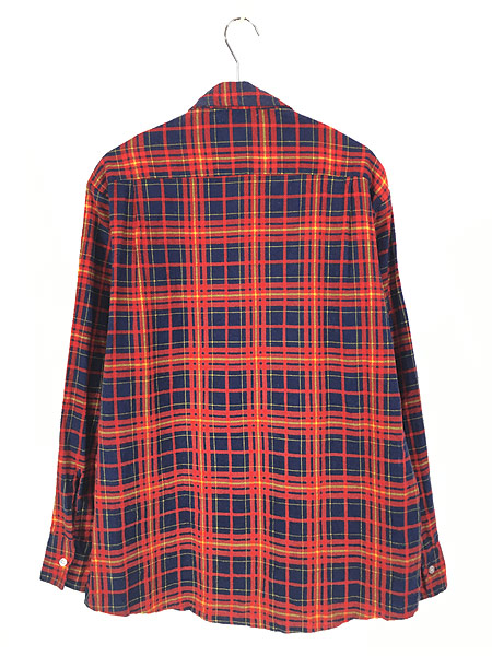 [3] 古着 80s Highlander Flannel by BUD BERMA チェック フランネル シャツ ネルシャツ L 古着