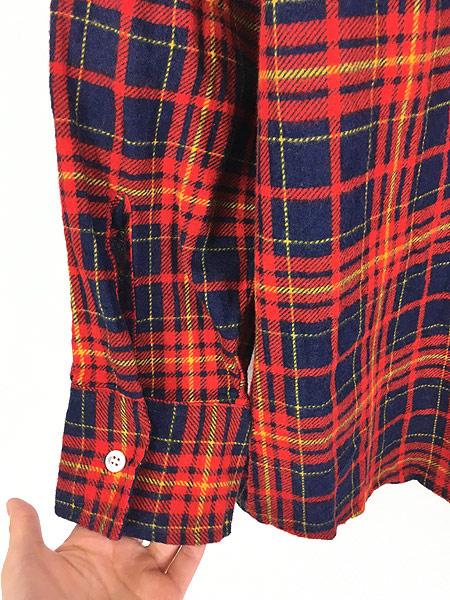 [4] 古着 80s Highlander Flannel by BUD BERMA チェック フランネル シャツ ネルシャツ L 古着