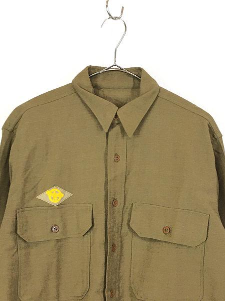 [2] 古着 40s 米軍 「M-1937」 ミリタリー フランネル ウール マスタード シャツ 15 1/2 美品!! 古着
