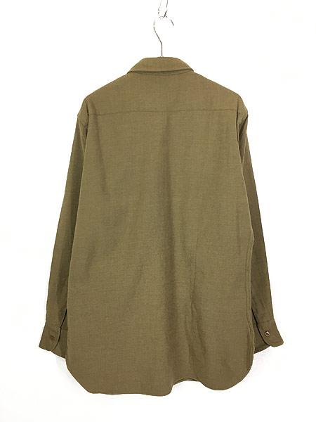 [3] 古着 40s 米軍 「M-1937」 ミリタリー フランネル ウール マスタード シャツ 15 1/2 美品!! 古着
