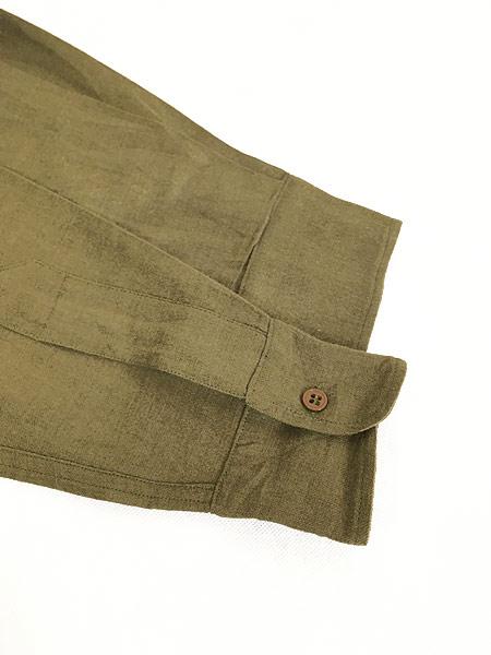 [4] 古着 40s 米軍 「M-1937」 ミリタリー フランネル ウール マスタード シャツ 15 1/2 美品!! 古着
