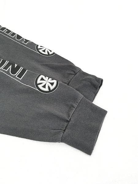 [4] 古着 90s USA製 INDEPENDENT アイアンクロス パターン オールド スケート ロング Tシャツ ロンT L 古着