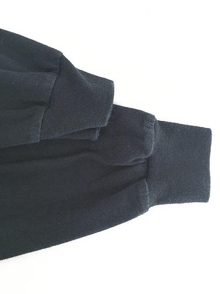 [6] 古着 90s USA製 HARLEY DAVIDSON シールド&バー 発泡 オールブラック ロング Tシャツ ロンT XXL 古着