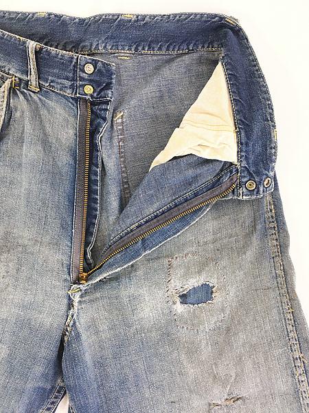 [8] 古着 50s HEAD LIGHT 名作 サイド フラップ ポケット デニム ワーク ペインター パンツ BORO W31 L31 古着