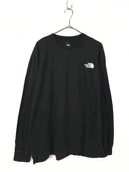 [1] 古着 TNF The North Face ノース ワンポイント 両面 BIG  ロングスリーブ Tシャツ ロンT XL 古着