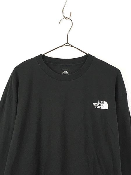 [2] 古着 TNF The North Face ノース ワンポイント 両面 BIG  ロングスリーブ Tシャツ ロンT XL 古着