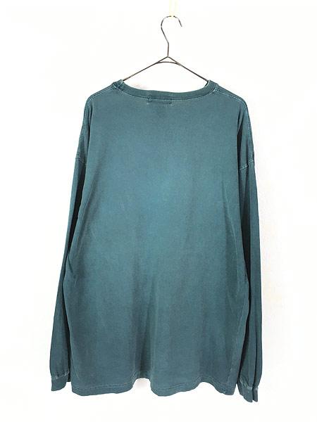 [3] 古着 80s USA製 Eddie Bauer 黒タグ ロングスリーブ ポケット Tシャツ ロンT ポケT L 古着