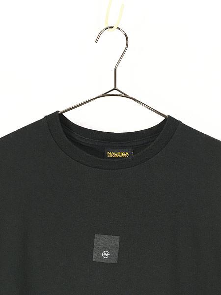 [2] 古着 USA製 Nautica 「COMPETITION」 アーム プリント 長袖 Tシャツ ロンT M 古着