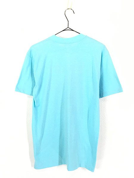 [3] 古着 80s USA製 「Horned」 フクロウ BIG プリント Tシャツ L 古着