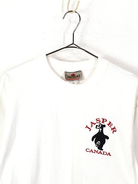 [2] 古着 90s 「JASPER」 クマ アニマル ワンポイント Tシャツ S 古着