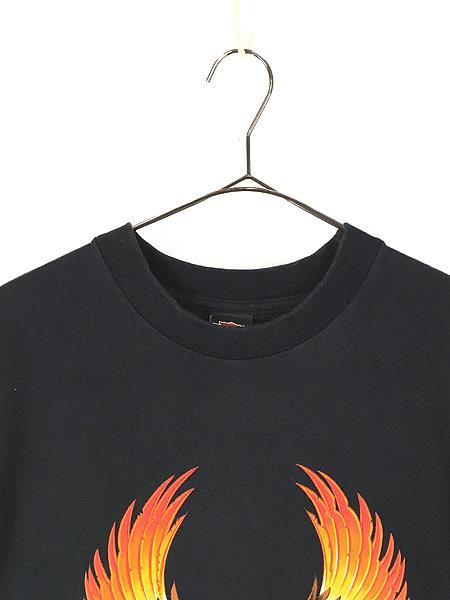 [2] 古着 90s USA製 HARLEY DAVIDSON イーグル モンスター アンクルサム Tシャツ L 古着