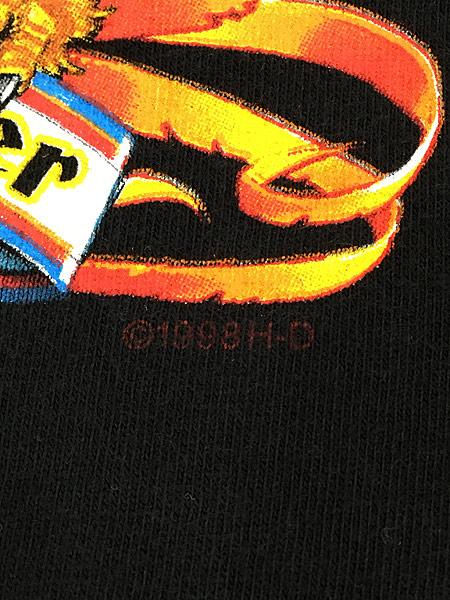 [5] 古着 90s USA製 HARLEY DAVIDSON イーグル モンスター アンクルサム Tシャツ L 古着