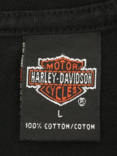 [6] 古着 90s USA製 HARLEY DAVIDSON イーグル モンスター アンクルサム Tシャツ L 古着