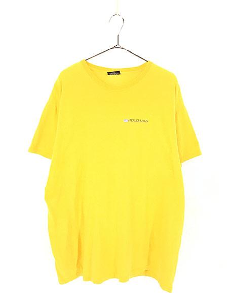 [1] 古着 90s POLO JEANS Ralph Lauren 星条旗 フラッグ ワンポイント Tシャツ XL 古着