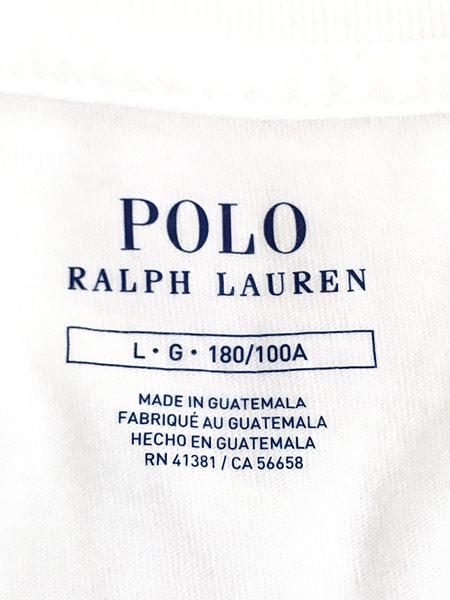 [5] 古着 POLO Ralph Lauren 人気 「POLO BEAR ポロベア」 バスケ Tシャツ L 古着
