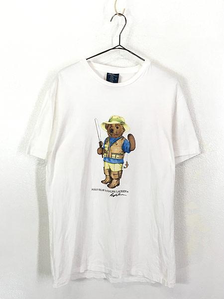 [1] 古着 90s POLO Ralph Lauren 人気 「POLO BEAR ポロベア」 Tシャツ S 古着