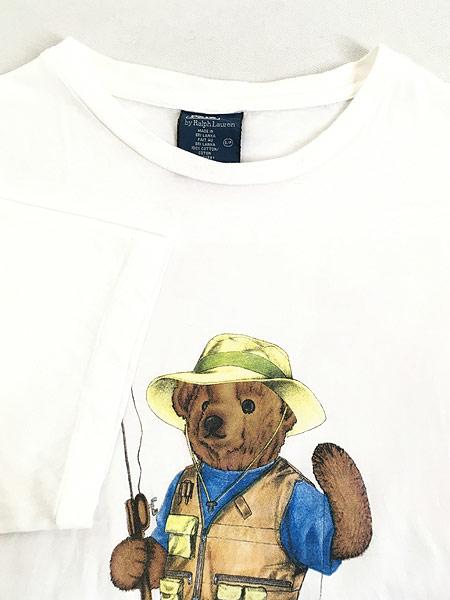 [4] 古着 90s POLO Ralph Lauren 人気 「POLO BEAR ポロベア」 Tシャツ S 古着