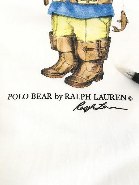 [6] 古着 90s POLO Ralph Lauren 人気 「POLO BEAR ポロベア」 Tシャツ S 古着