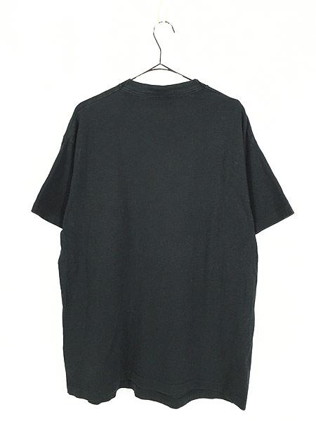 [3] 古着 90s USA製 LOONEY TUNES シルベスター BIGプリント Tシャツ 黒 XL位 古着