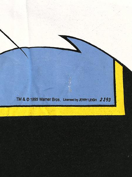 [5] 古着 90s USA製 LOONEY TUNES シルベスター BIGプリント Tシャツ 黒 XL位 古着