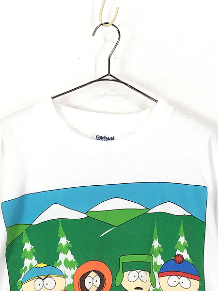 [2] 古着 90s SOUTH PARK サウスパーク アニメ キャラクター Tシャツ XL 古着