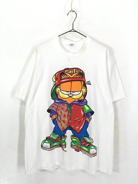 [1] 古着 90s USA製 Garfield ガーフィールド ストリート カルチャー Tシャツ XL 古着