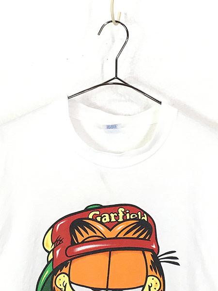 [2] 古着 90s USA製 Garfield ガーフィールド ストリート カルチャー Tシャツ XL 古着
