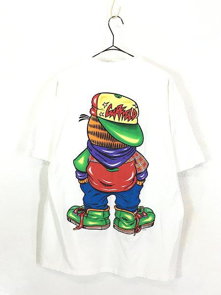 [3] 古着 90s USA製 Garfield ガーフィールド ストリート カルチャー Tシャツ XL 古着