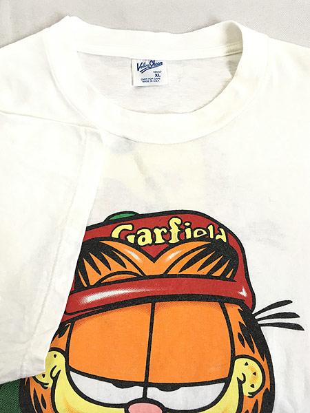 [4] 古着 90s USA製 Garfield ガーフィールド ストリート カルチャー Tシャツ XL 古着