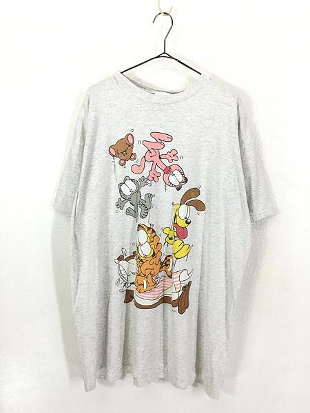 [1] 古着 90s Garfield ガーフィールド ジャンプ BIGTシャツ XXL位 古着