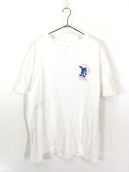 [1] 古着 90s The Disney Store 染み込み ワンポイント ミッキー Tシャツ XL 古着