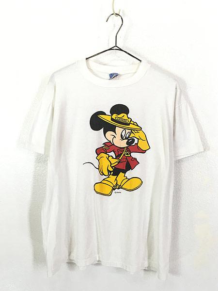[1] 古着 90s Disney Mickey ミッキー CANADA コスチューム Tシャツ L 古着