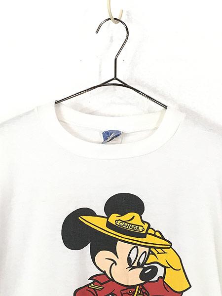[2] 古着 90s Disney Mickey ミッキー CANADA コスチューム Tシャツ L 古着