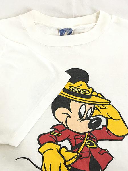 [4] 古着 90s Disney Mickey ミッキー CANADA コスチューム Tシャツ L 古着