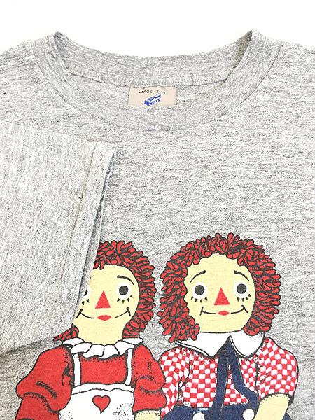 [4] 古着 80s USA製 ラガディアン & アンディ プリント オールド Tシャツ L 古着