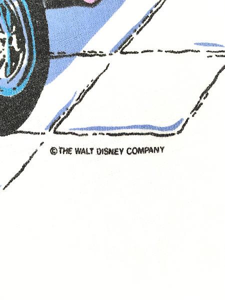 [5] 古着 90s Disney Mickey ミッキー ミニー クラシック カフェ Tシャツ L 古着