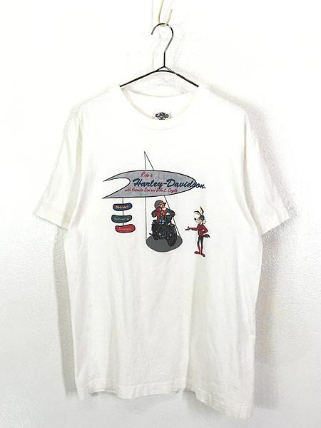 [1] 古着 90s USA製 LOONEY TUNES サム コヨーテ ハーレー Tシャツ L 古着