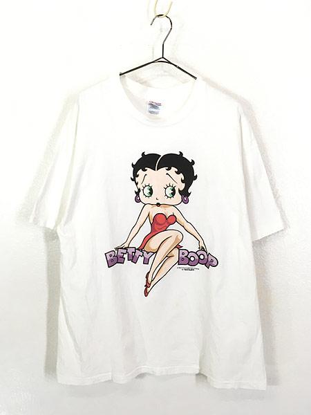 [1] 古着 90s BETTY BOOP ベティ ブープ オールド キャラクター Tシャツ XL 古着