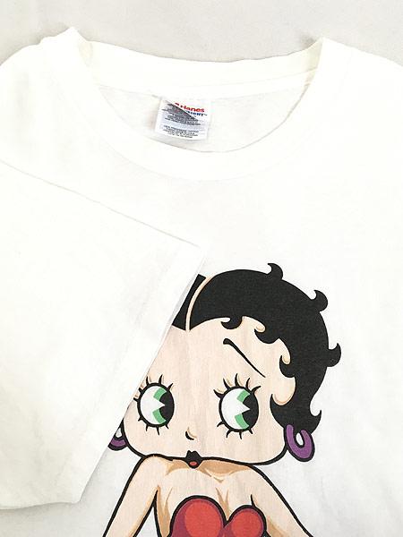 [4] 古着 90s BETTY BOOP ベティ ブープ オールド キャラクター Tシャツ XL 古着