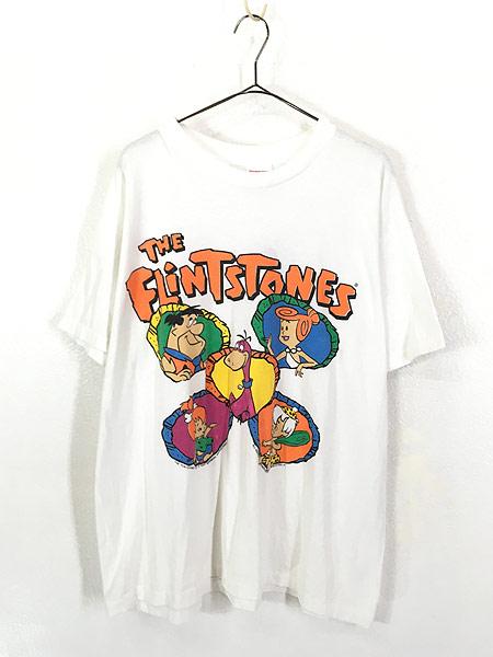 [1] 古着 90s USA製 The Flint Stones フリントストーン ファミリー Tシャツ XL 古着