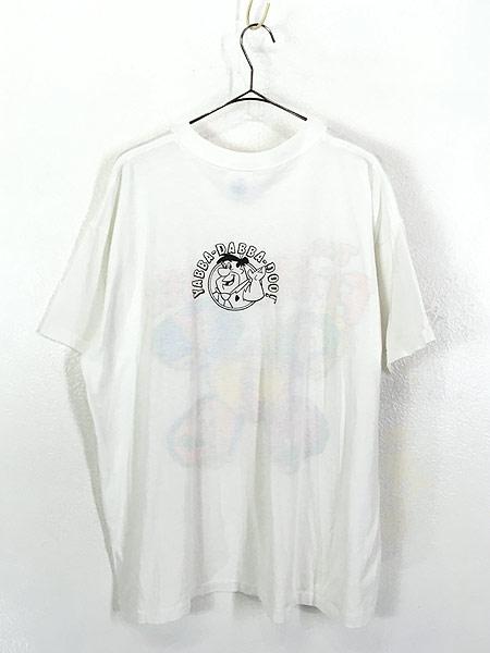[3] 古着 90s USA製 The Flint Stones フリントストーン ファミリー Tシャツ XL 古着