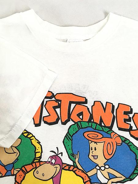 [4] 古着 90s USA製 The Flint Stones フリントストーン ファミリー Tシャツ XL 古着