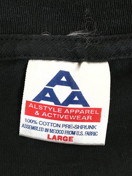[7] 古着 90s 「BORN TO RIDE」 ポパイ アメリカン モーターサイクル Tシャツ L 古着