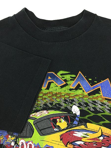 [4] 古着 90s USA製 WOODY WOOD PECKER ウッドペッカー レーシング Tシャツ L 古着