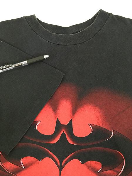 [4] 古着 90s DC Comics BATMAN & ROBIN バットマン ロビン ムービー Tシャツ L 古着