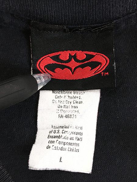[6] 古着 90s DC Comics BATMAN & ROBIN バットマン ロビン ムービー Tシャツ L 古着