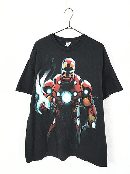 [1] 古着 00s MARVEL IRON MAN アイアンマン アメコミ Tシャツ XL位 古着